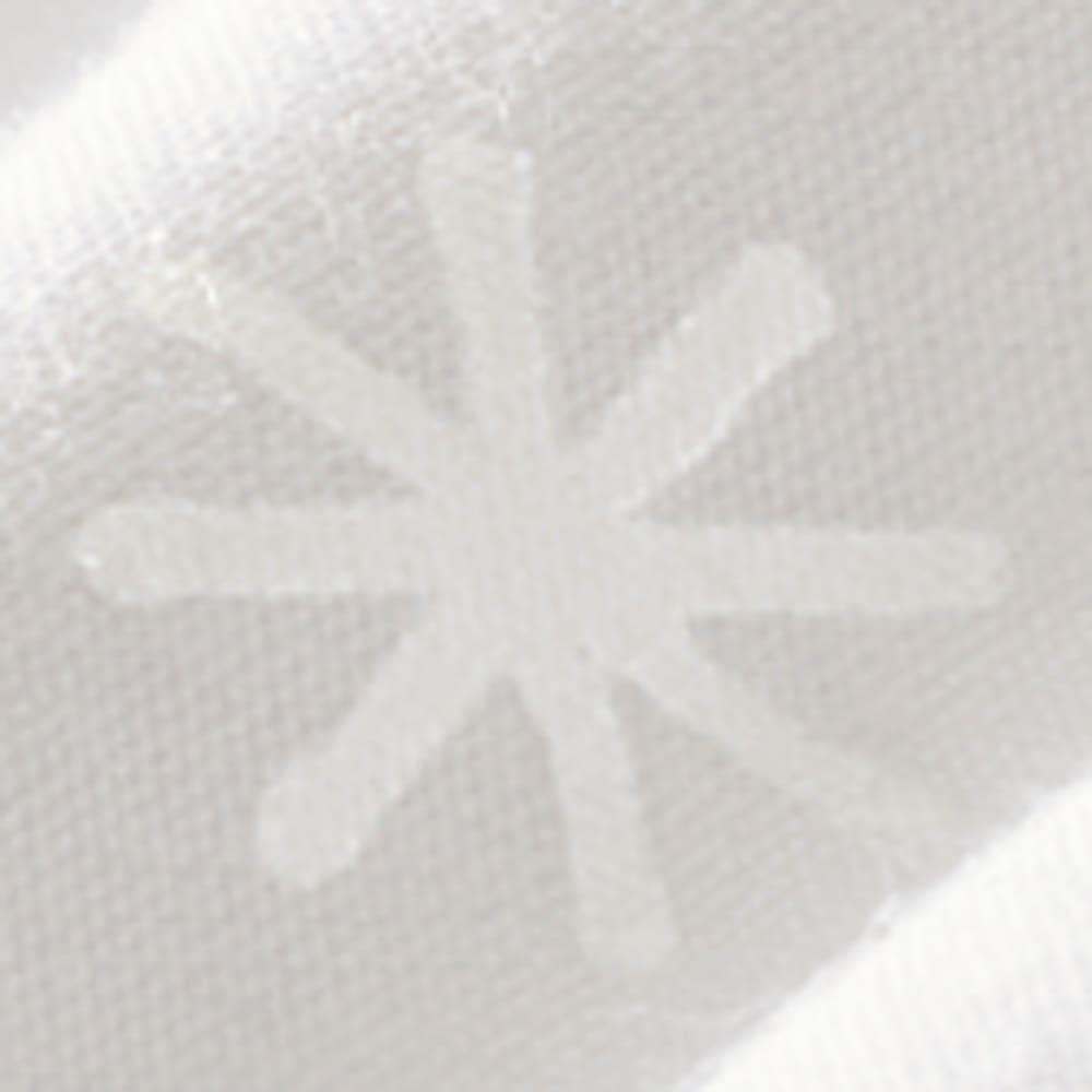 フォスフレイクス枕 コンフォートU 枕のみ 綿100%の側生地はおしゃれな雪柄入り。