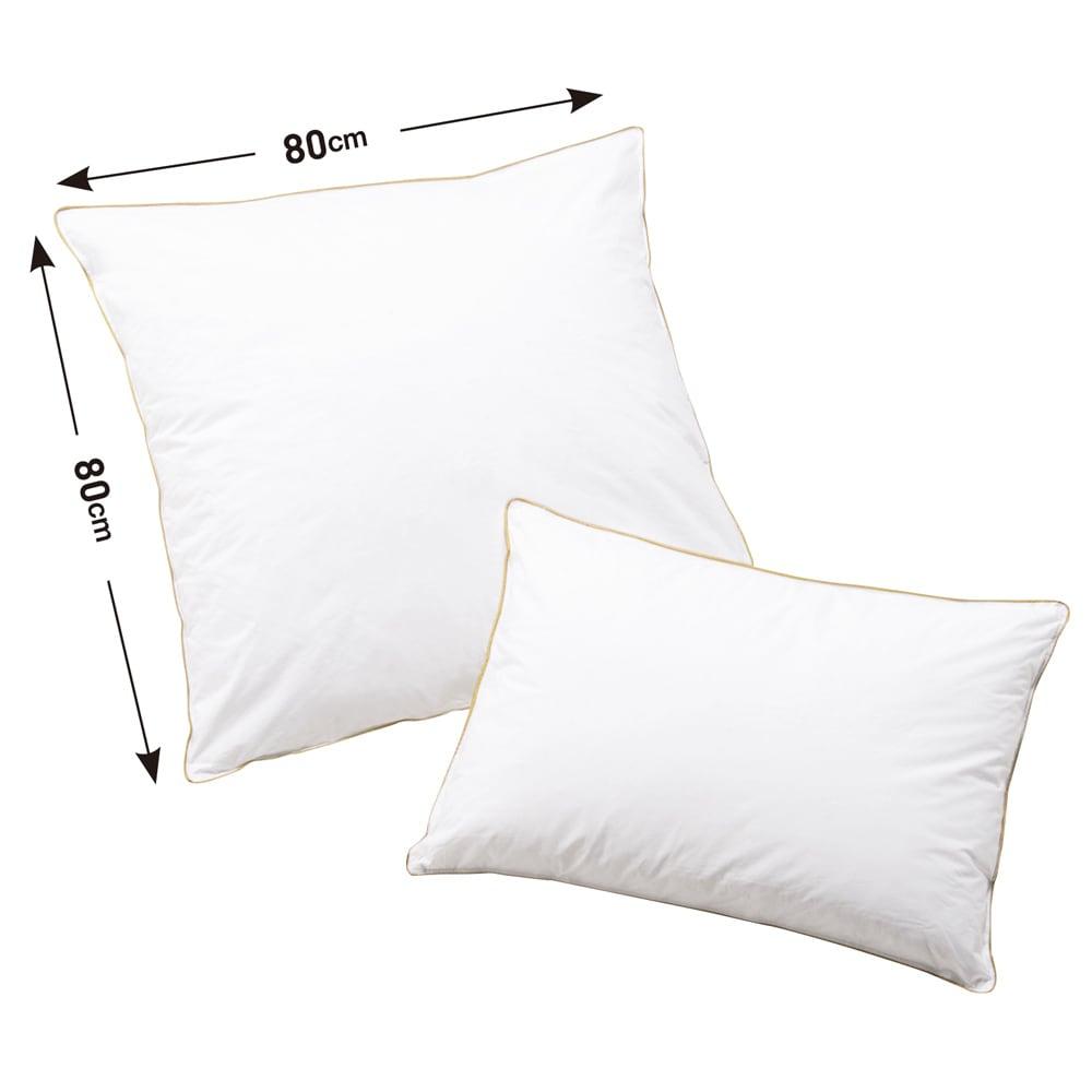フォスフレイクス枕クラシックシリーズ 専用枕カバー単品 【枕本体サイズ】左:ハーフボディ(80×80) 右:大判サイズ(50×70) ※お届けは枕カバーになります。