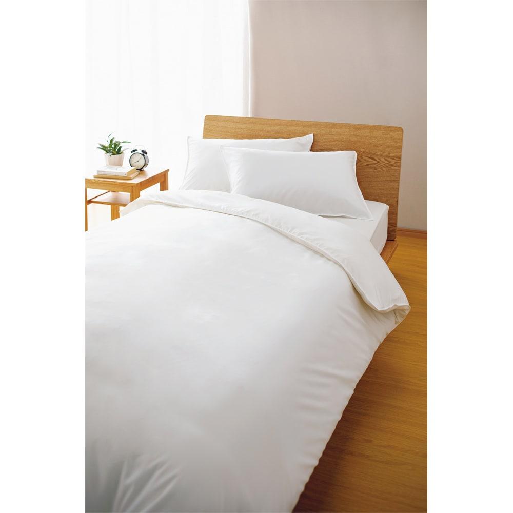 アンチストレス(R) 枕カバー  同色2枚組 (ア)ホワイト