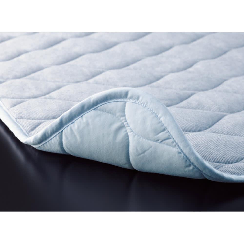 速乾・消臭アクアジョブ(R)パッドシーツ レギュラータイプ (ウ)サックス 寝汗を吸収、やさしい肌触り 寝汗もグンと吸収。汗冷えも防ぎます。