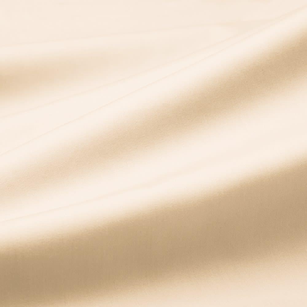 スーピマ超長綿を贅沢に使用したサテン織り  ベッドシーツ 【BASIC COLOR】(ア)アイボリー どの色を組み合わせても相性の良い、ベーシックカラーとトレンドカラーの計5色をラインアップ。