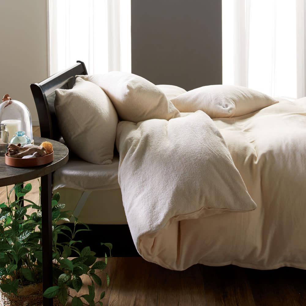 今治タオルシーツ&カバーシリーズ 枕カバー (イ)アイボリー ※シリーズコーディネート例。お届けは枕カバーのみです。