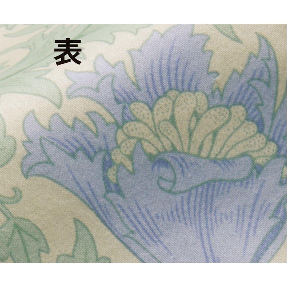 V&Aアネモネ柄 衿カバー (イ)ブルー表