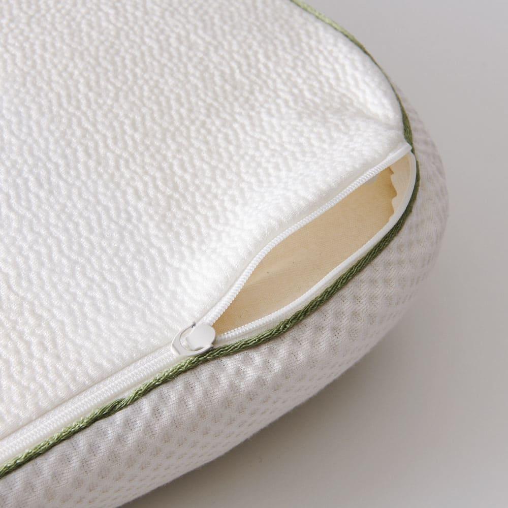 テクノジェル(R) Back & Side ピロー 枕単品 側カバーはファスナーを外して洗えます。