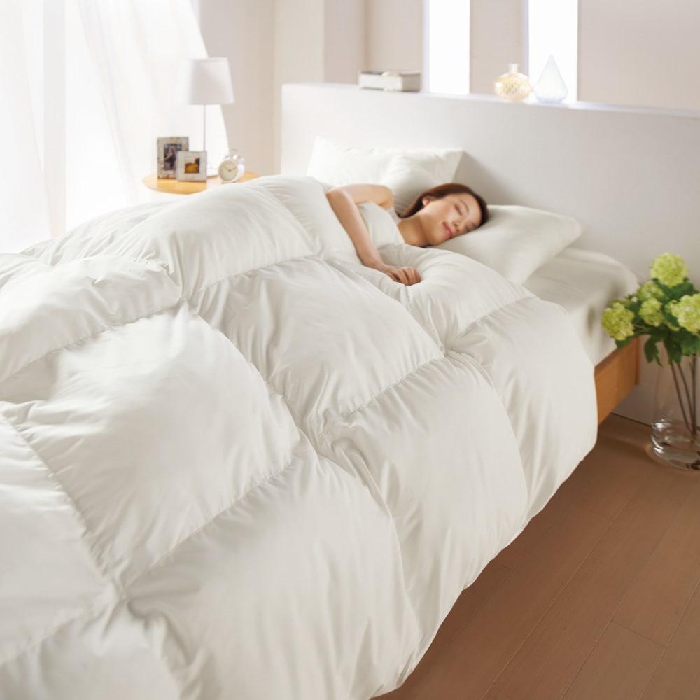 ベッド 寝具 布団 毛布 掛け布団 ダブルロング(スノーホワイトプラス 2枚合わせ掛け布団) 545703