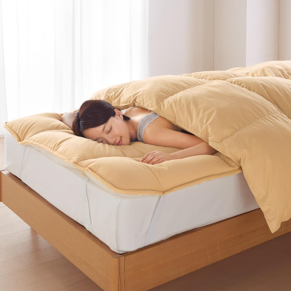 ベッド 寝具 布団 毛布 掛け布団 クイーンロング(スノーホワイトプラス 掛け布団) 545709