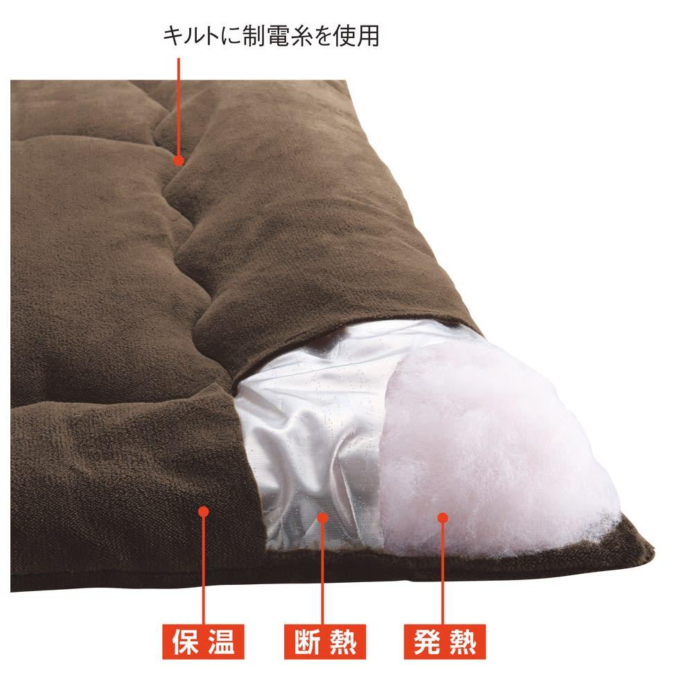 【ディノス限定販売】ヒートループ(R)DX ぬくぬく増量掛け布団 ヒートループ布団の構造