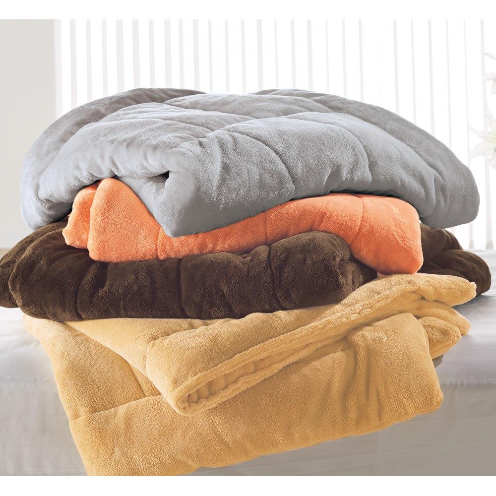 【ディノス限定販売】ヒートループ(R)DX ぬくぬくケット 上から(エ)グレー (ア)オレンジ  (ウ)ブラウン (イ)ライトブラウン 発熱パワーに加え、身体に沿ってフィット。すき間から熱が逃げにくく、暖かく包み込みます。
