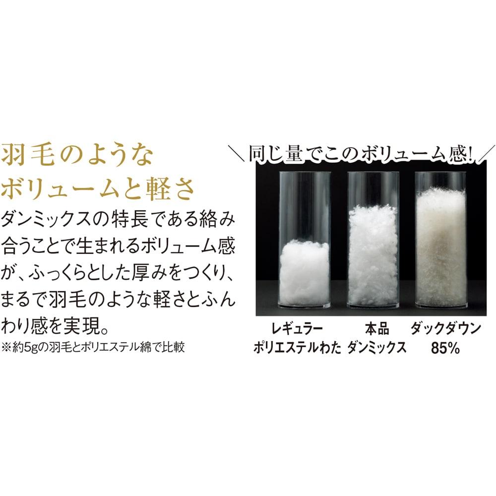 Afitお得なセット掛け敷き枕セットシングル(敷布団) 掛け布団の中わたで使用しているダンミックスの5逸 2逸「ふんわり軽い」