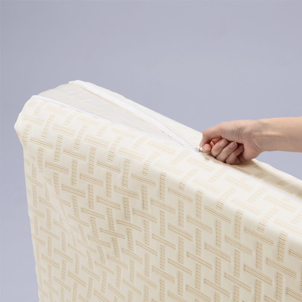 Afitマットレスシリーズ 3つ折り敷布団 側カバーは取外せるので、汚れが気になる場合は、ネットに入れて洗濯で丸洗いできます。