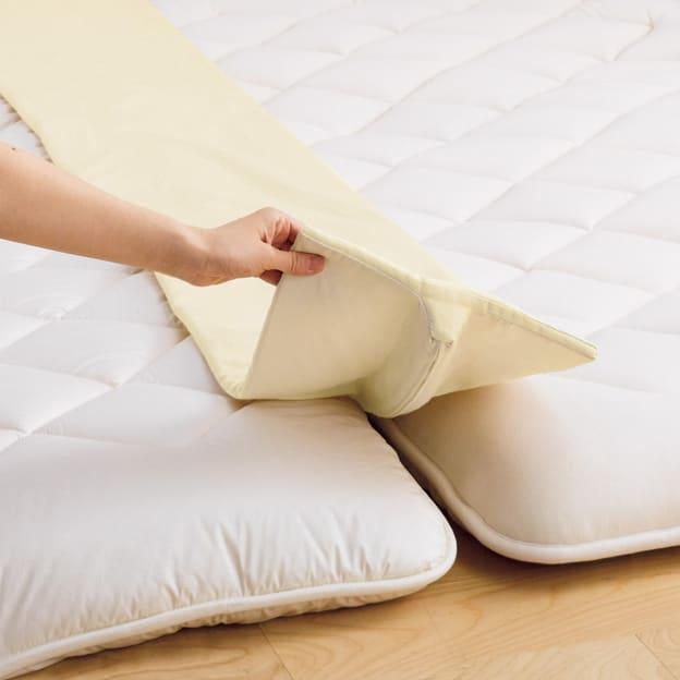 隠れた名品!ベッドや敷布団のすき間や段差を埋めて寝心地アップ すき間パッド 敷布団用 どんなに密着させても不快な段差ができちゃう敷布団。すきまパッドでフラットにして、寝心地良く。