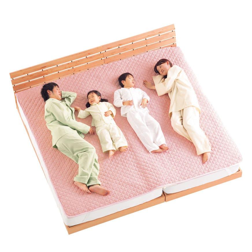 隠れた名品!ベッドや敷布団のすき間や段差を埋めて寝心地アップ すき間パッド 真ん中で寝る子供たちも快適♪