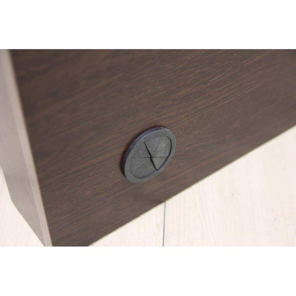 布団が使える洋服たんすベッド ヘッド付き(高さ80・床面まで41cm) ヘッドボード背面にはコード通し穴があります。