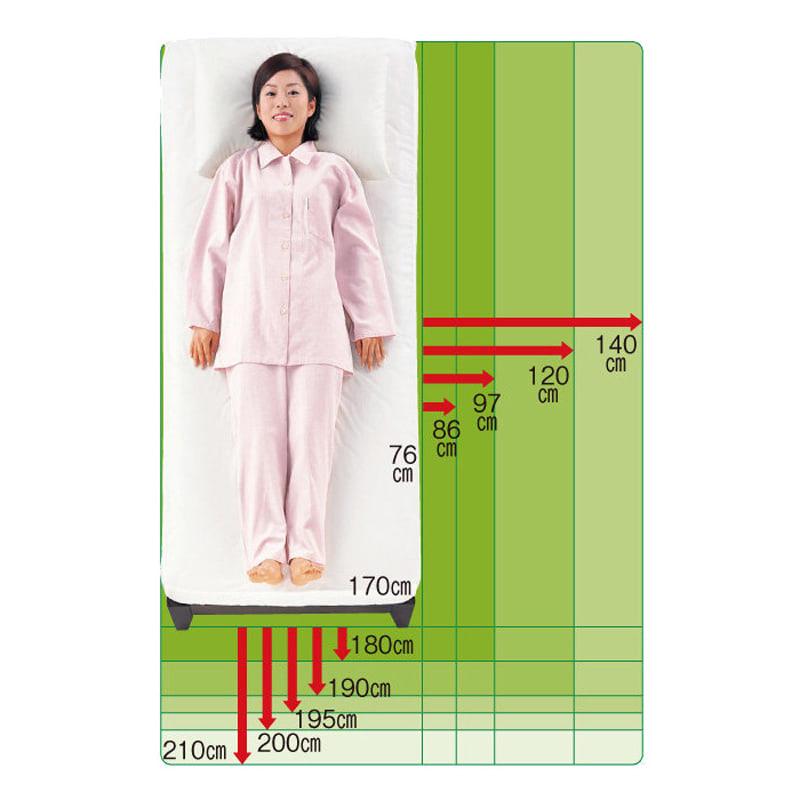 30サイズバリエーションベッド(国産マットレス付き) 長さ190cm 幅76~140cmまで5サイズ 身長に合わせて長さ6サイズ。