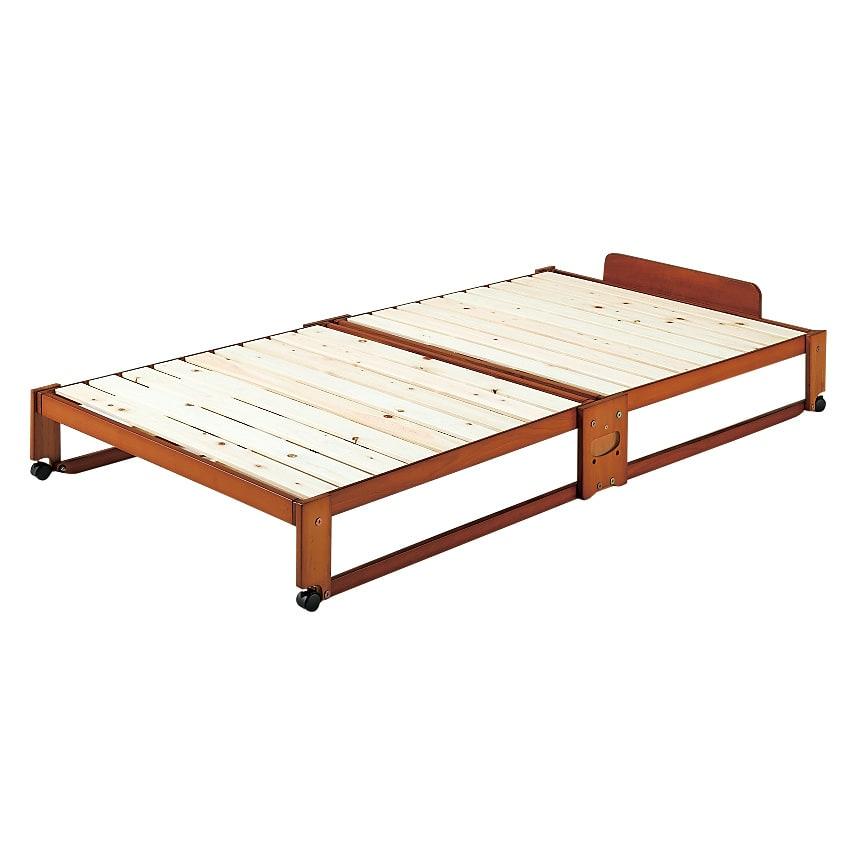 ベッド 寝具 布団 ベッドフレーム 折りたたみ式ひのきすのこベッド シングル 546501