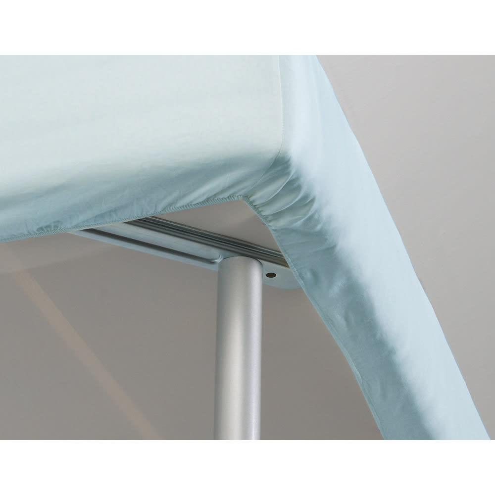 France Bed/フランスベッド 軽くて丈夫な脚付きマットレスベッド ボックスシーツを付けても脚部が邪魔になりません。