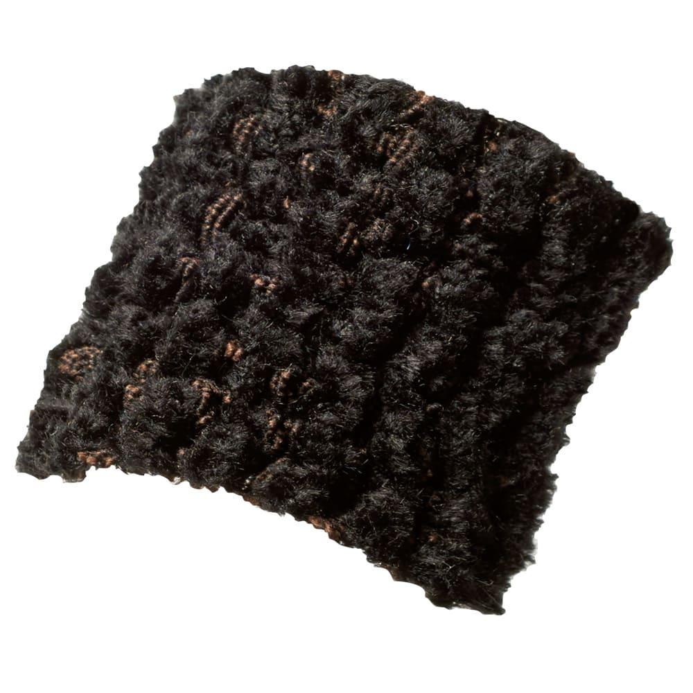 イタリア製フィットカバー「ヴェルート」 座面・背もたれ兼用クッションカバー(1枚) (オ)ブラック