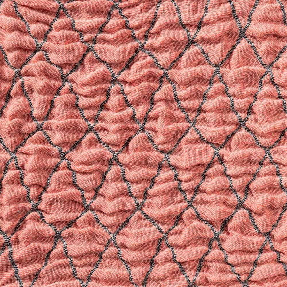 スペイン製クッションカバー〈タムル〉約45×45cm用 (イ)アプリコット