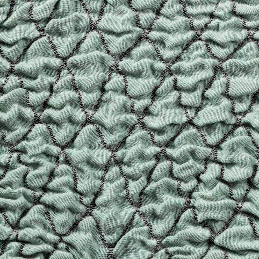 スペイン製クッションカバー〈タムル〉約45×45cm用 (エ)ミント