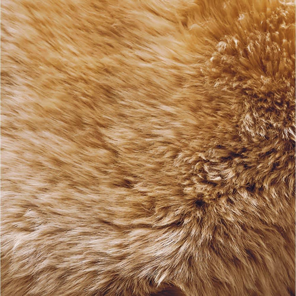 スプリングラム長毛ムートン シートクッション (イ)ベージュ(写真は約40cm円形)