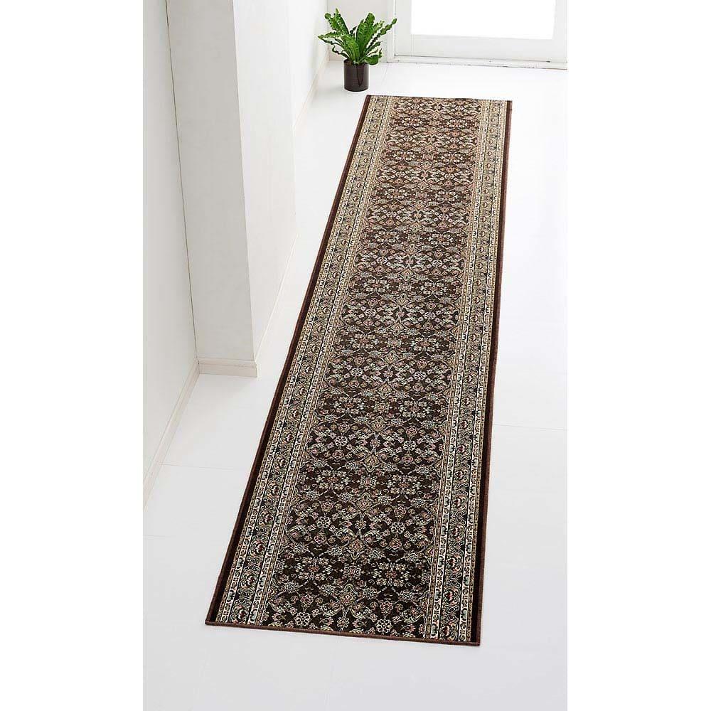 ポーロ モケット織廊下敷き 約幅80cm(長さカット) (エ)ブラウン ※写真は幅67cmタイプです。