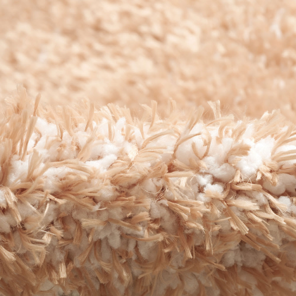 スクエア約190×240cm 防ダニ洗えるラグ ほわほわの短い毛足の糸(白糸)を織り込んでいるため、弾力があります。