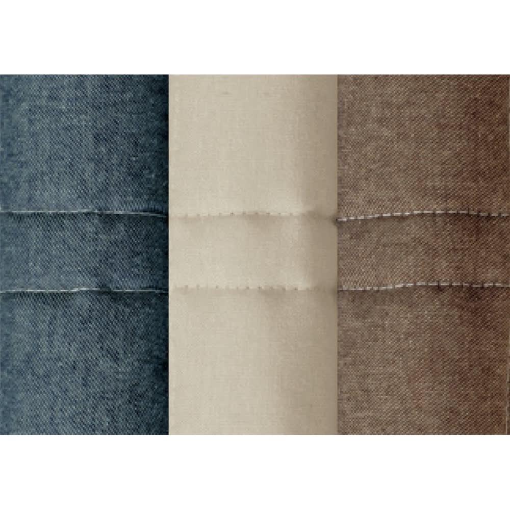 抗菌防臭デニム調 キルトチェアカバー(同色2枚組) 左から(ア)ネイビー (イ)グレージュ (ウ)ブラウン