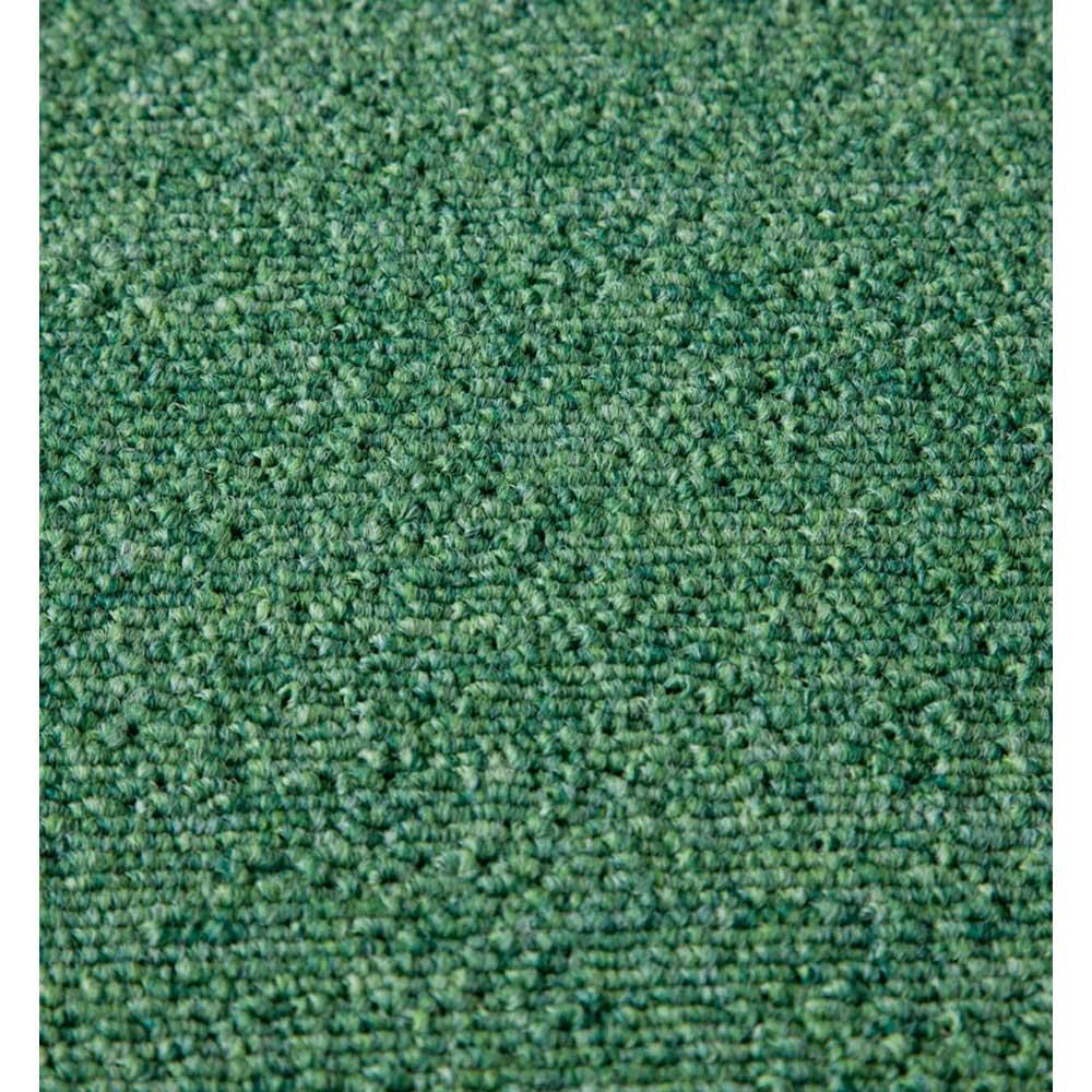 防炎・防音タイルカーペット(約50cm角) [素材アップ]濃淡のミックス調の糸を使用 (ウ)グリーン