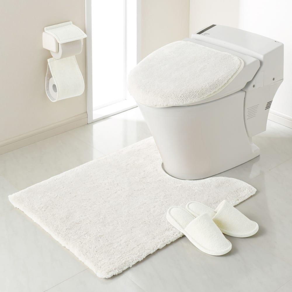 エスタルト トイレマット 大判マット:(エ)ホワイト  ※マット単品になります。その他の商品は別売りです。