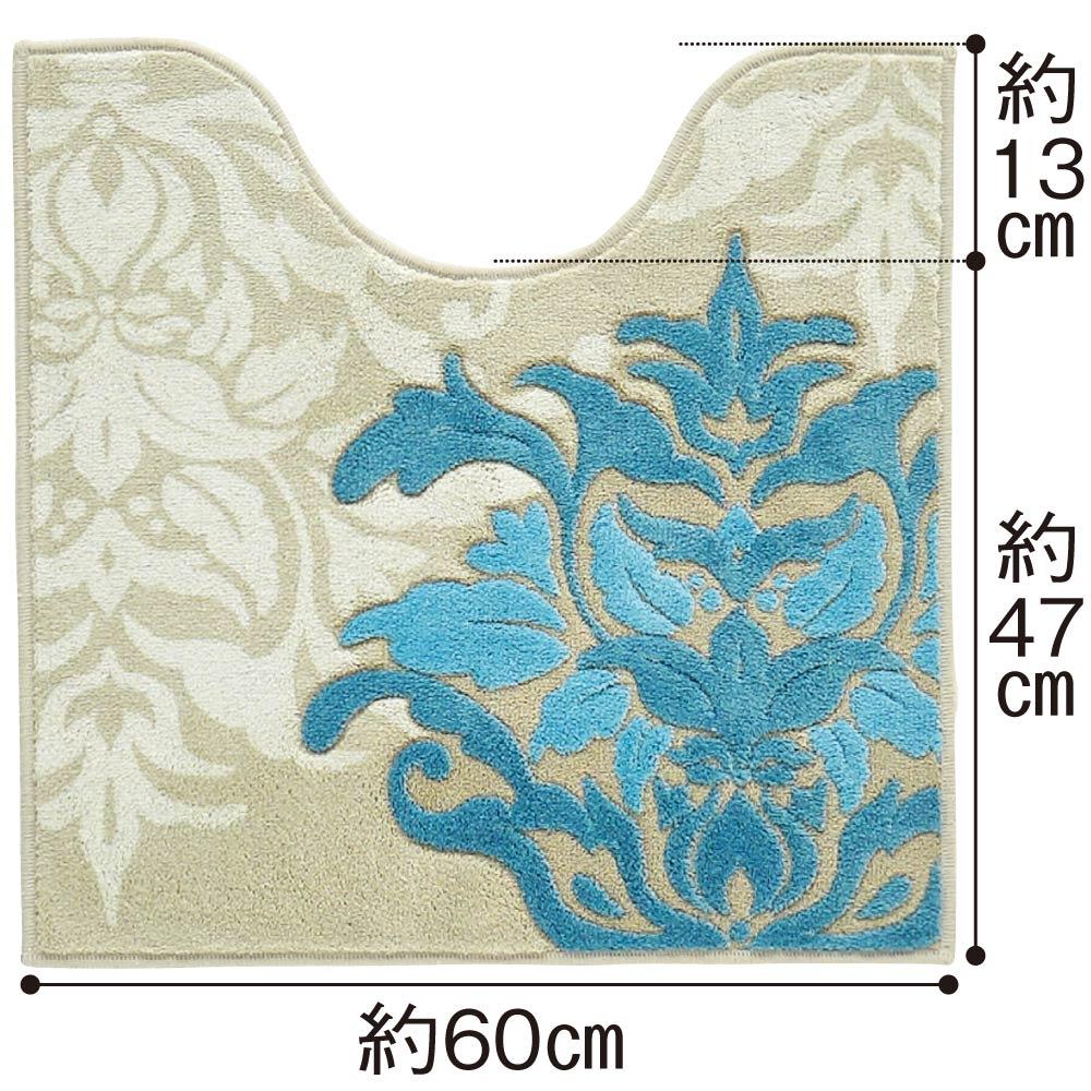 デコールミュゼ トイレタリー トイレマット (ア)ブルーグレー系 ※写真は普通判サイズです。