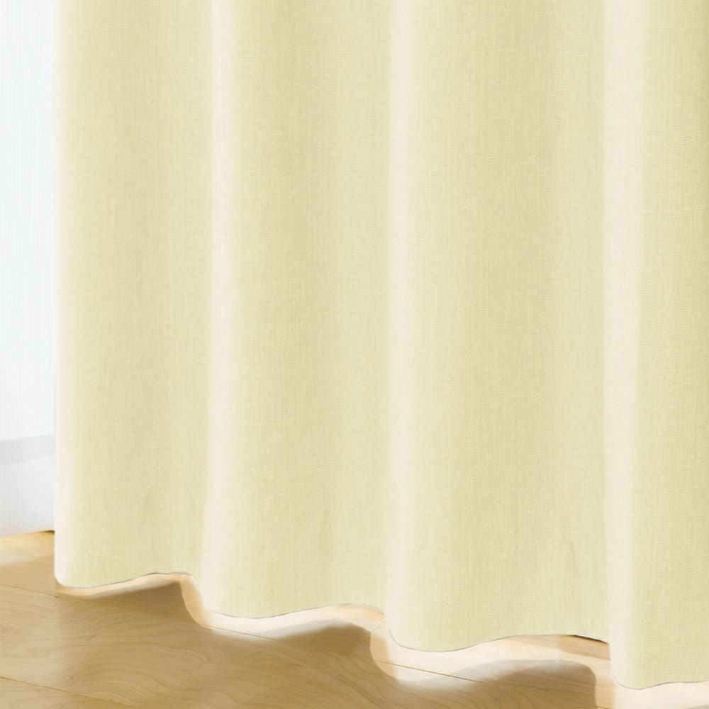 多サイズ展開・1級遮光省エネ遮熱カーテン100cm幅(2枚組) (イ)アイボリー