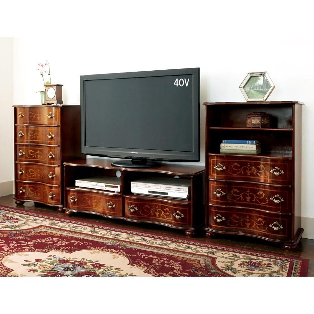 イタリア製象がん収納家具 テレビボード幅87cm