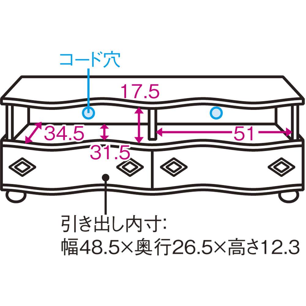 イタリア製象がんクラシック家具 テレビボード幅111cm 引き出しは蟻組と呼ばれるしっかりとかみ合わせがされている仕様で、丈夫な作りです。