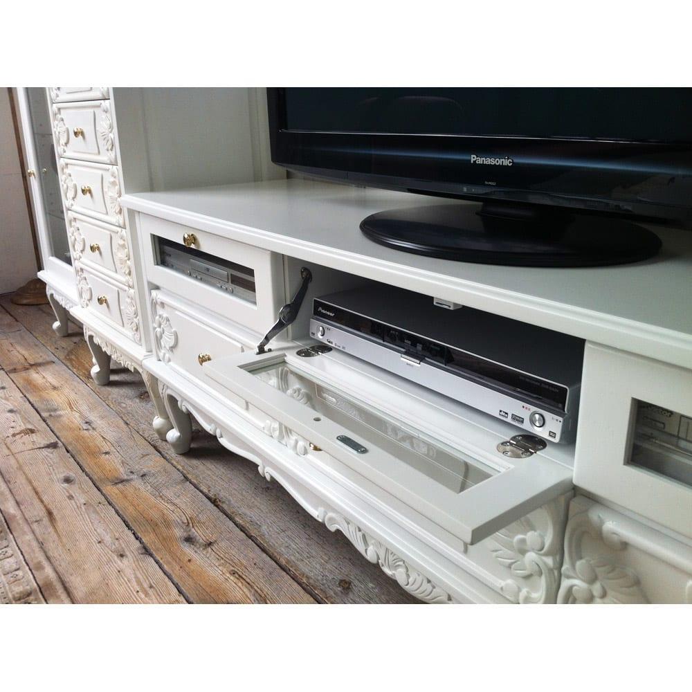 アンティーククラシックシリーズ アンティーク風テレビ台 幅154cm