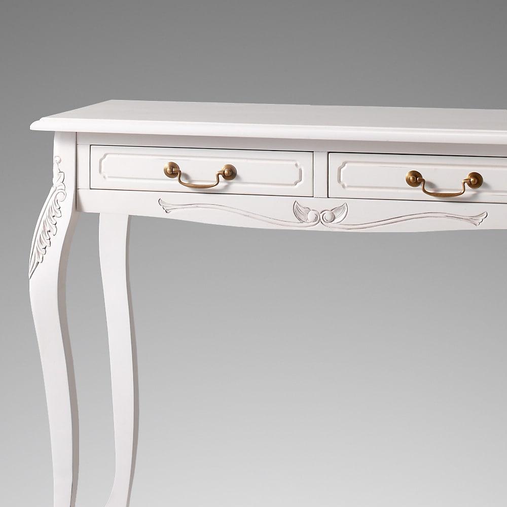 アンティーク調クラシック家具シリーズ コンソールデスク 細部まで丁寧に彫刻が施されています。