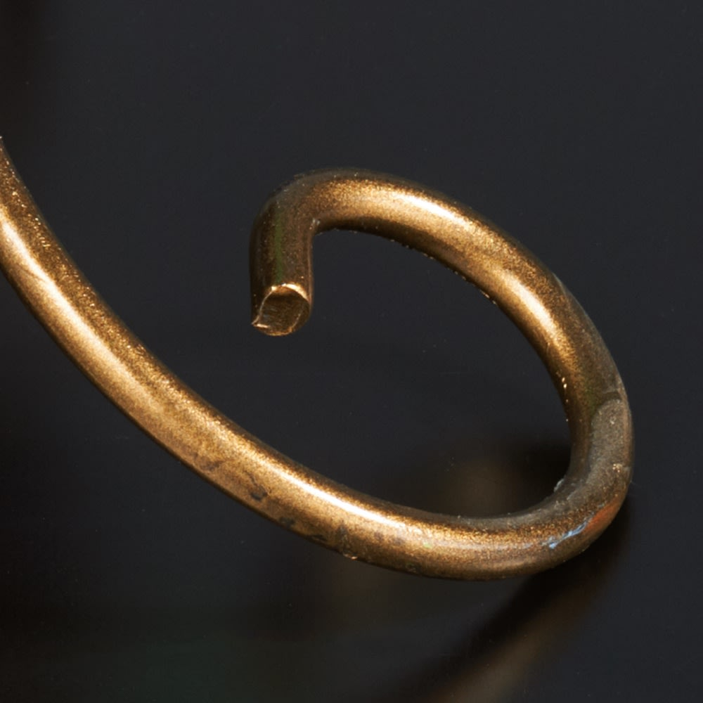 イタリア製アイアンローズシリーズ 傘立て丸型 円を描いたラインが優美な脚部。