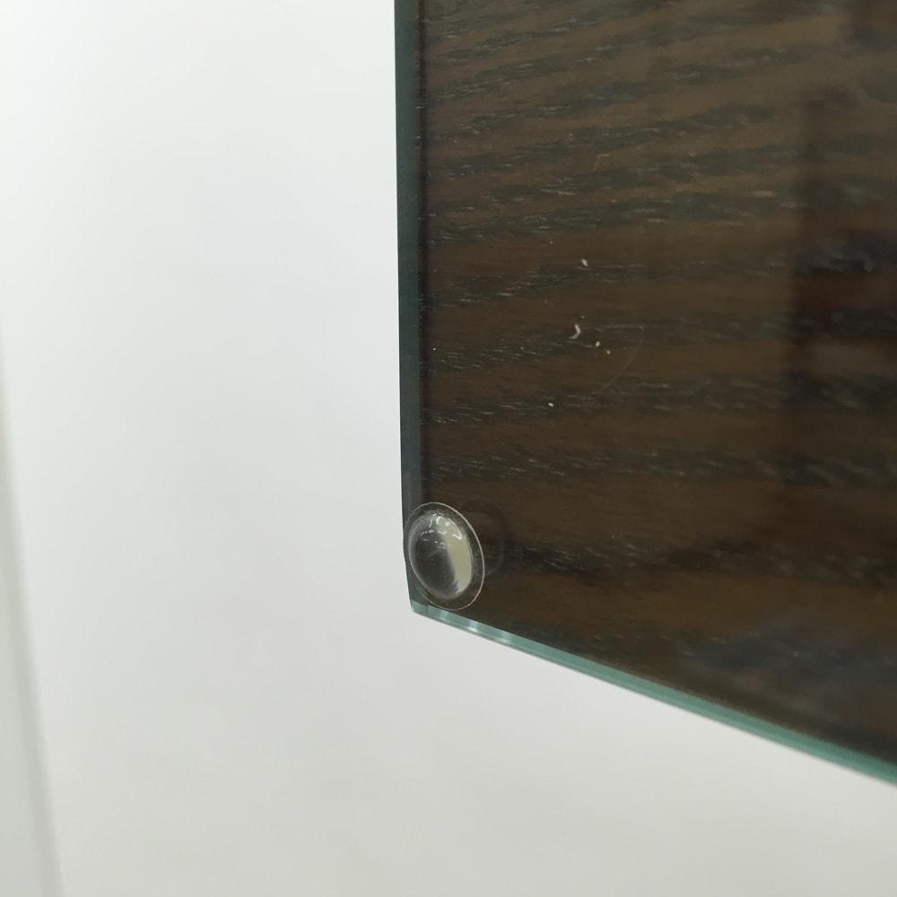 和モダン 格子 ダイニング シリーズ 食器棚 幅120奥行44cm ガラス扉は衝撃を軽減するクッション付。