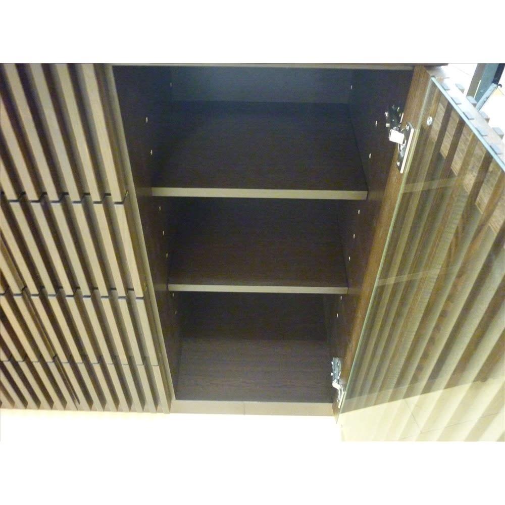 和モダン 格子 リビング収納 シリーズ リビングボード