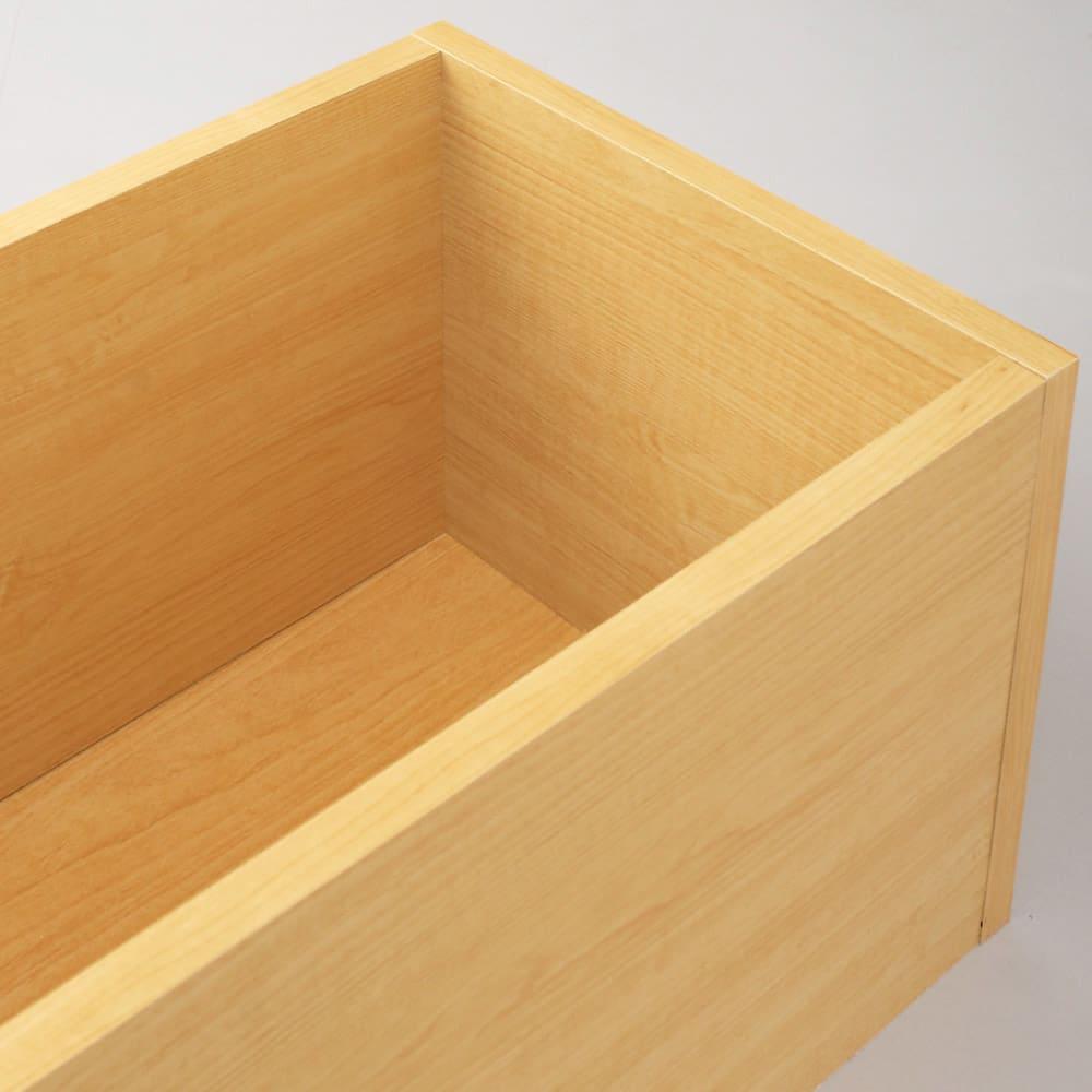 ユニット畳シリーズ 1畳引出し付き 高さ31cm 収納スペースはきれいな化粧仕上げなので、衣類も安心して収納できます。