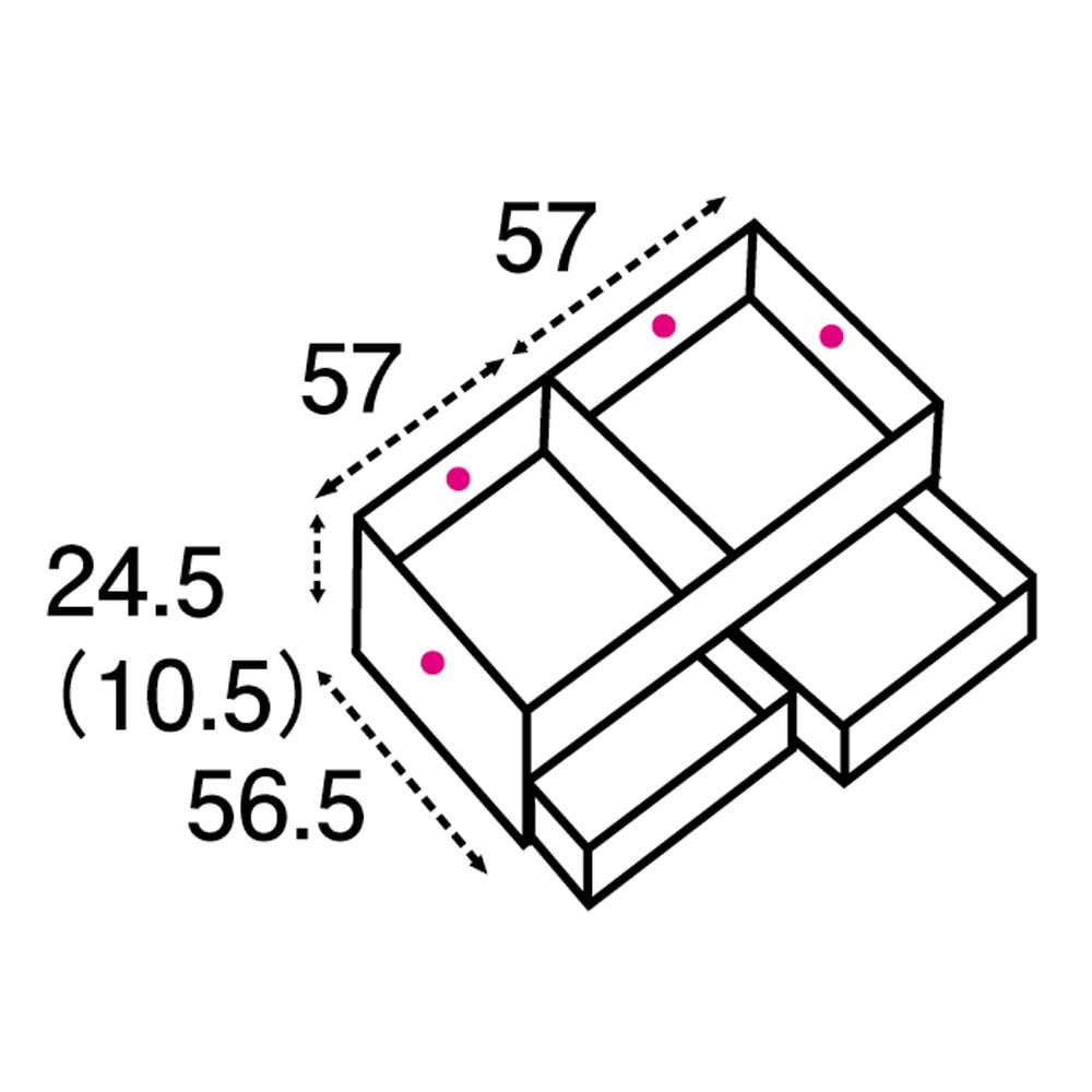 ユニット畳シリーズ 1畳引出し付き 高さ31cm 矢印は有効内寸になります。矢印は有効内寸になります。( )内の数字は高さ31cmタイプになります。引き出し有効内寸:幅54.5奥行42.5高さ12.5cm×2杯