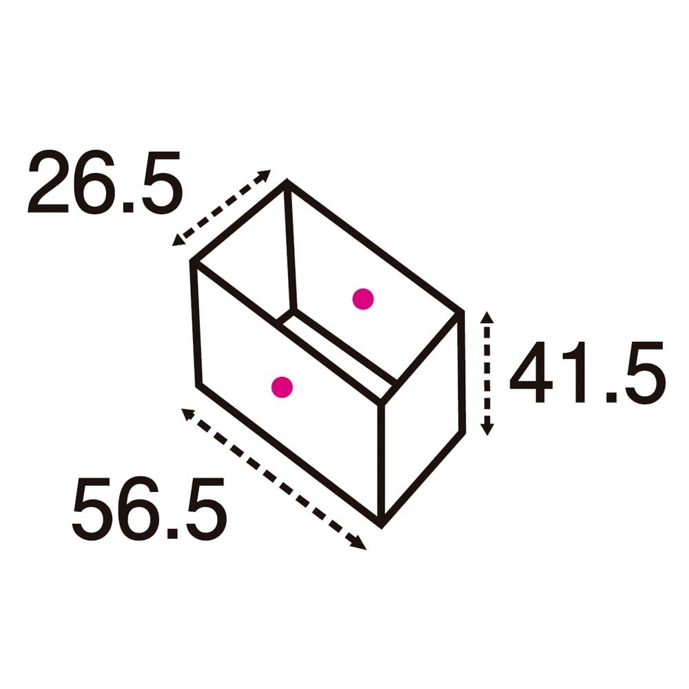ユニット畳シリーズ ミニ 高さ45cm (単位:cm) 点線は有効内寸です。