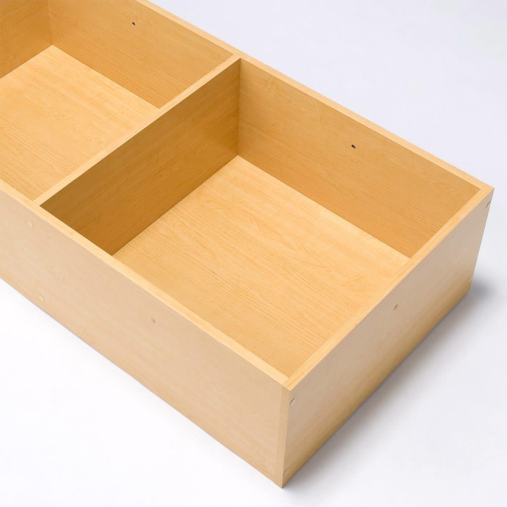 ユニット畳シリーズ 1.5畳 高さ45cm 収納スペースはきれいな化粧仕上げなので、衣類も安心して収納できます。