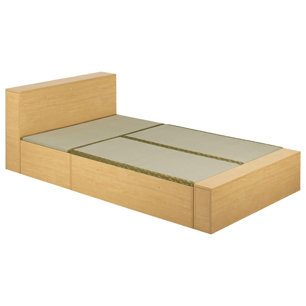 ユニット畳シリーズ ベッドセット 幅120奥行215cm 高さ31cm(本体高さ70cm) (イ)ライトブラウン