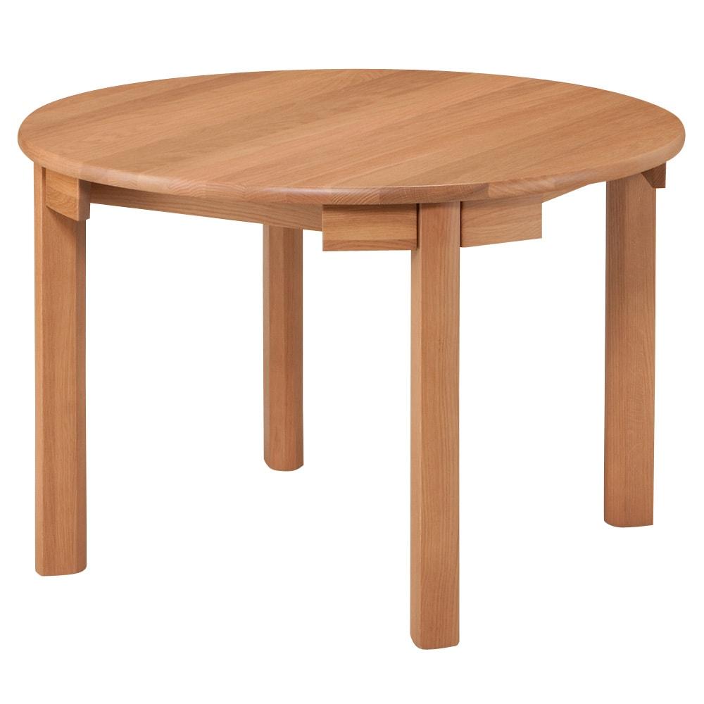 省スペースラウンドダイニングシリーズ お得な5点セット(テーブル+チェア2脚組×2) (テーブル)  ※天板サイズ:縦105cm横105cm厚み2.7cm