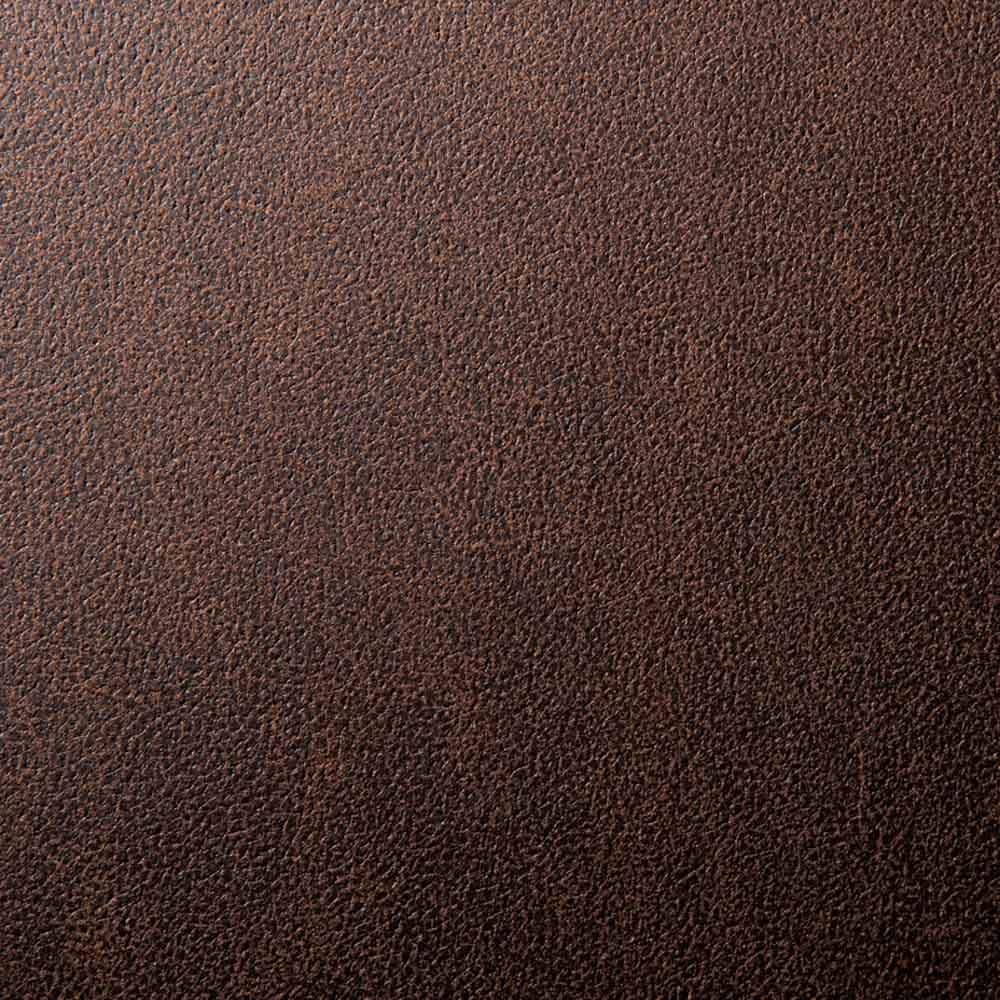省スペースリビングダイニング ソファ 右カウチ(座って右肘) 落ち着いた重厚感のある(ア)ダークブラウン。