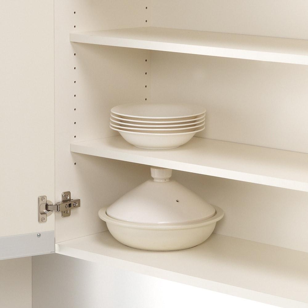 家電が使いやすいハイカウンター奥行45cm 食器棚高さ203cm幅40cm/パモウナDQ-S400KL DQ-S400KR
