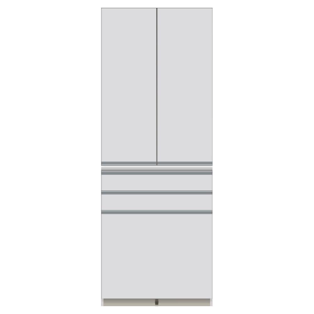 家電が使いやすいハイカウンター奥行50cm 食器棚高さ214cm幅80cm/パモウナCQ-800K お届けの商品はこちらになります。