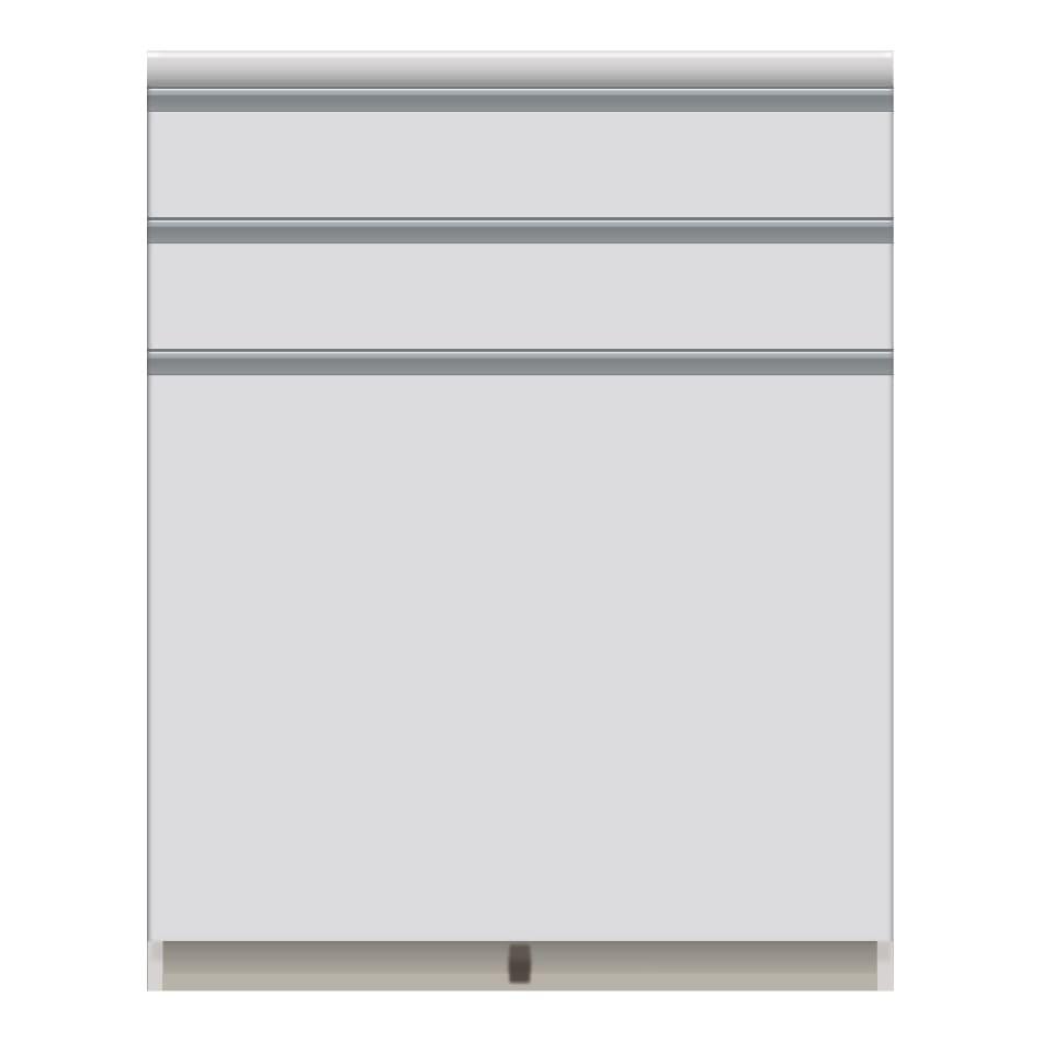 家電が使いやすいハイカウンター奥行50cm キッチンカウンター高さ101cm幅80cm/パモウナVQ-800K 下台 お届けの商品はこちらになります。