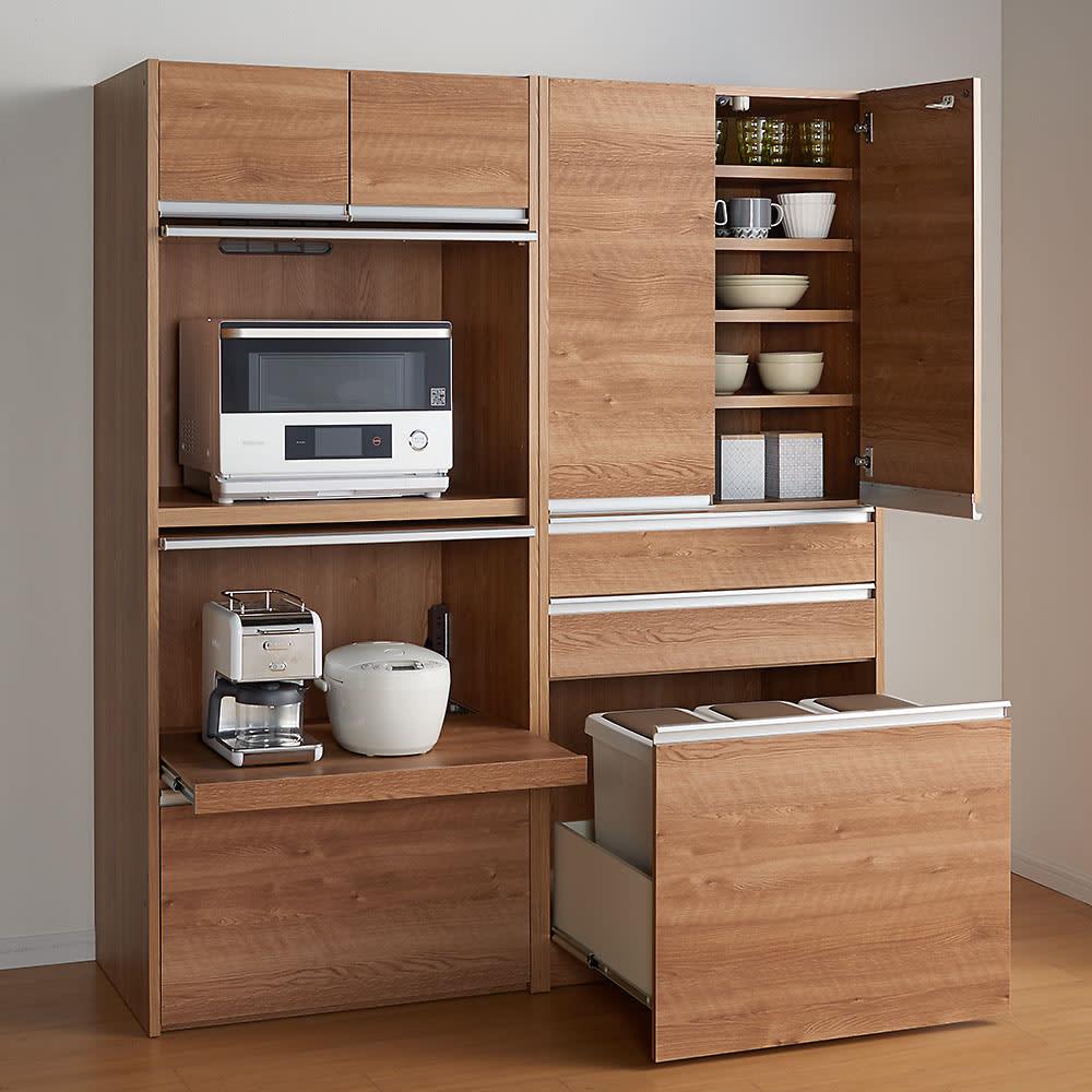 プッシュ式ごみ箱 26.5L ゴミ箱をスッキリ隠せる収納庫をご用意しています。