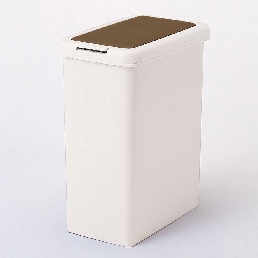 プッシュ式ごみ箱 26.5L (ウ)ブラウン